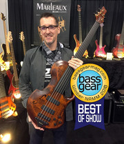 "Gerald Marleaux won the ""Bass Gear Magazine's - Best of Show Award"" with his CONTRA fretless 5-string."