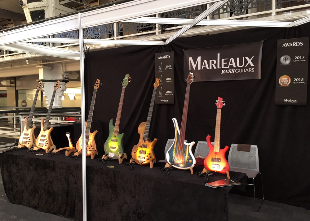Marleaux booth at London Bass Show